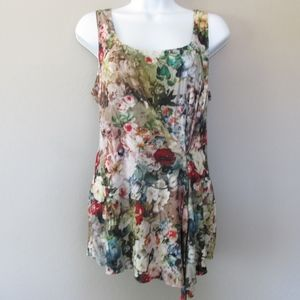 Bailey 44 Tank Top Floral Print Gathered Front